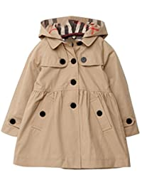 Lemonkids® Children Girls Fall Spring Hooded Poncho Outwear Jacket Trenchcoat