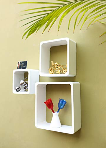 Onlineshoppee Fancy Handicraft Design Wall Decor MDF Wall Shelf.