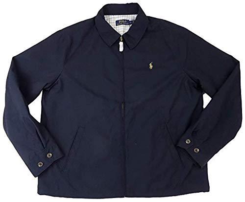 Polo Ralph Lauren Men's Lightweight Microfiber Windbreaker Jacket (XL, Navy)