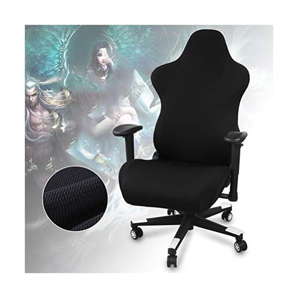 Nargut Housses de chaise de bureau ergonomiques extensibles pour chaise de jeu de course