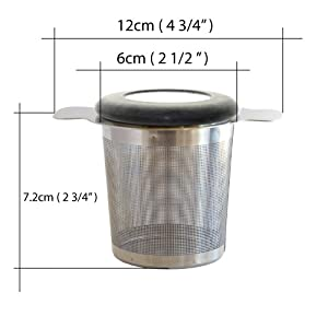 Tealyra - brewiTEA - Brew-In-Mug Tea Infuser Mesh Strainer with Metal Dish - Large Capacity and Perfect Size for Hanging on Teapots - Mugs - Cups - To Steep Loose Leaf Tea and Coffee