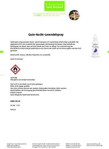 Sanct Bernhard Gute Nacht Lavendelspray Als Raumspray Oder Kissenspray Inhalt 125 Ml Drogerie Körperpflege