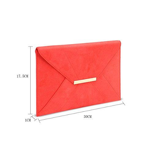 avec à Smith et enveloppante métal chaîne en pour en Pochette doré métal bandoulière Anna femme sac Rouge qwRAXXnT