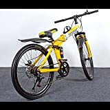 Foldable Adventure Sports MTB Cycle with 7 Shimano Gears Yellow