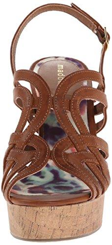 887865300243 - Madden Girl Women's Eliite Wedge Sandal, Cognac Paris, 10 M US carousel main 3