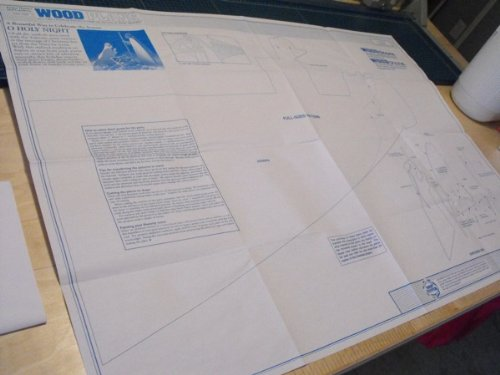 A Full Size Woodworking Pattern and Instructions to Build a Nativity Scene of Mary, Joseph and Manger