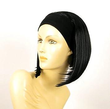 perruque bandeau femme courte lisse noire