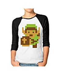 Women's The Legend Of Zelda Majora's Mask Raglan Baseball T-Shirt