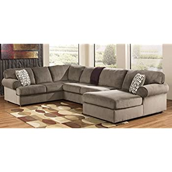 Brilliant Ashley Furniture Jessa Place Dune Fabric Upholstery 3 Pc Sectional With Right Arm Facing Chaise Spiritservingveterans Wood Chair Design Ideas Spiritservingveteransorg