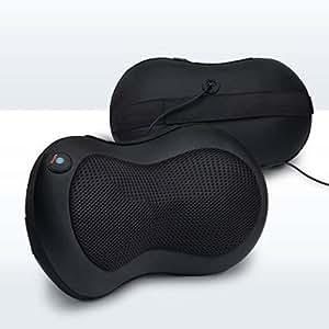 LiBa Shiatsu Neck Back Massager Pillow, Shiatsu Massager w/ Heated Balls Car Massager