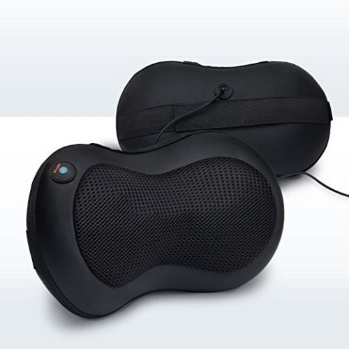 LiBa Shiatsu Neck Back Massager Pillow, Shiatsu Massager w/ Heated Balls Car Massager