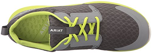 Ariat Mens Fuse Atletische Schoen, Gesmeed Ijzer, 10 D Us Charcoal Mesh / Neon Green