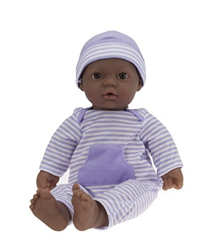 JC Toys, La Baby African American 16-inch Washable Soft Body Purple Play Doll - For Children 2 Years Or Older, Designed by Berenguer by JC Toys