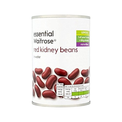 Red Kidney Beans in Water essential Waitrose 300g - Pack of 6