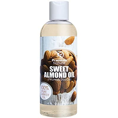 Sweet Almond Oil Natural Carrier Oil - 4 oz Cleansing Properties Evens Skin Tone Treats Irritated Skin Nourishes Moisturizes & Prevents Aging Premium Nature