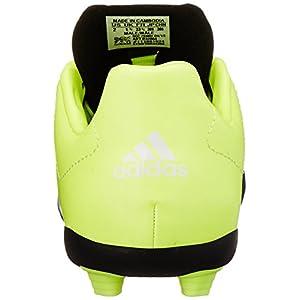 adidas Performance Ace 15.4 FG J Soccer Shoe (Little Kid/Big Kid),Black/White/Solar Yellow,11 M US Little Kid