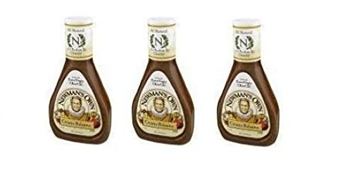 Newman's Own Creamy Balsamic Salad Dressing (Pack of 3) 16 oz Bottles