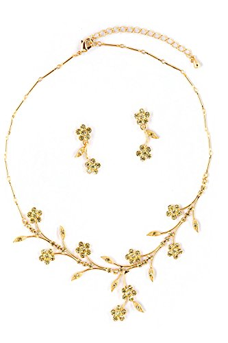 (Topwholesalejewel Gold Jonquil Flower Neck Set)