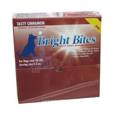 Bright Bites Daily Dental Dog Treats, Tasty Cinnamon, Large, 5 Pound Box, My Pet Supplies