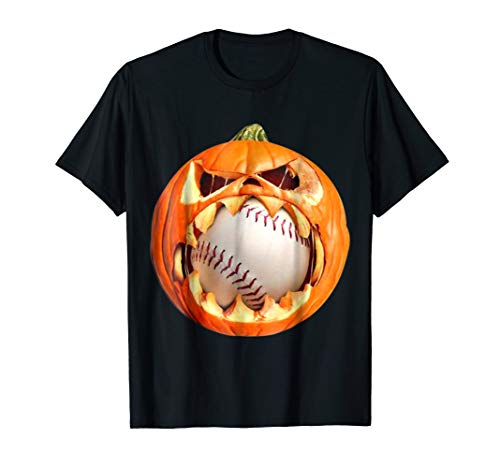 PUMPKIN EAT BASEBALL Halloween 2018 T-shirt