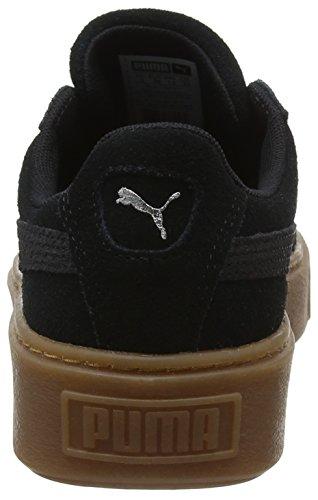 Para Puma Black Suede silver Platform Animal Mujer Zapatillas Negro puma ZwIpwrqnv