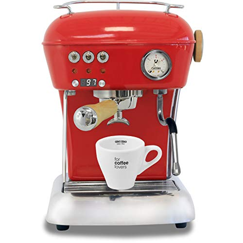 Ascaso Dream Up V3 Love Red PID Wood Handle Semi-Automatic Espresso Machine – w/Ascaso Cup & Saucer