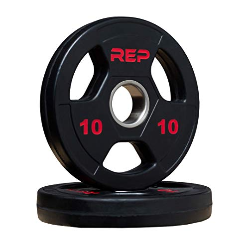 Rep Rubber Coated Olympic Plates 10 lb Pair