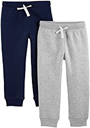 Toddler Boys 2-Pack Pull on Fleece Pants