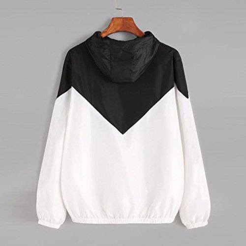 m Manches Sweats zipp Femme Taille ete Culture Patchwork Chic Racebody Vintage Mince Longues Automne l Grande Simple Manteau A6vAwf