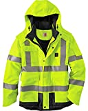 Carhartt Men's High Vis Waterproof Class 3 Insulated Sherwood Jacket,Brite Lime,Medium