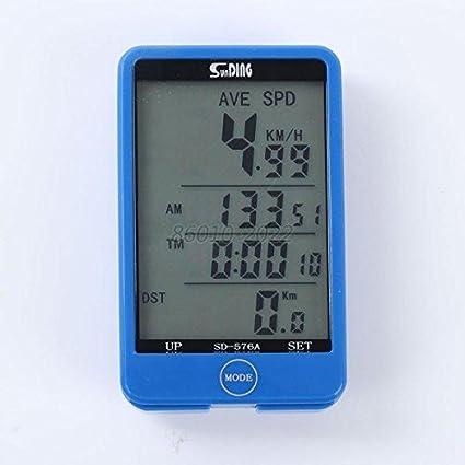 Bike Computer Waterproof Digital LCD Bicycle Speedometer Odometer MTB Cycling #