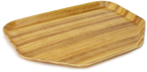 Carlisle 1713WFG094 Fiberglass Glasteel Wood Grain Trapezoid Tray, 18.00