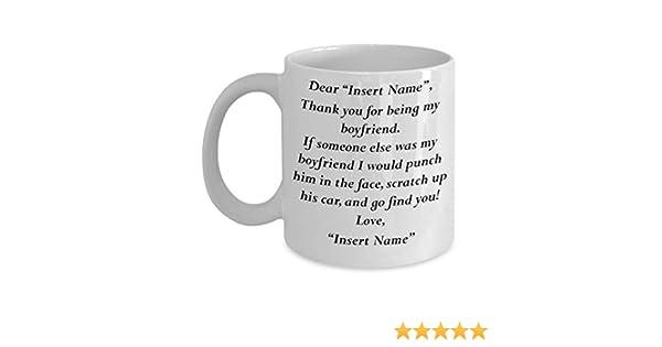MyFaveGift Customizable Personalized Girlfriend To Boyfriend Gifts Funny  Cute Coffee Mug Perfect Gift Idea For Him Birthday Graduation Christmas