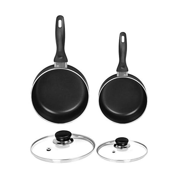 Utopia Kitchen Nonstick Saucepan Set - 1 Quart and 2 Quart - Glass Lid - Multipurpose Use for Home Kitchen or Restaurant… 2