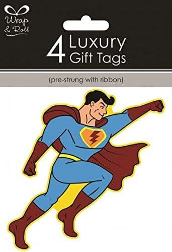 Superhero Comic etiquetas de regalo fiesta de cumpleaños niños ...