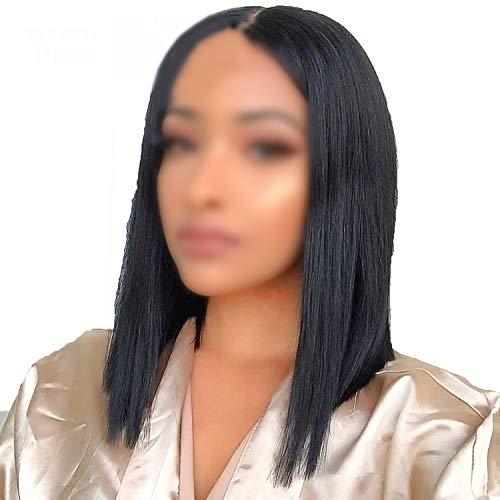 Bob Wig For Black Women Brazilian Remy Hair Short Lace Front Human Hair Wigs,14inches,150%