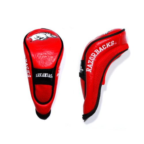 Headcover Razorbacks Arkansas - Team Golf NCAA Arkansas Razorbacks Hybrid Golf Club Headcover, Hook-and-Loop Closure, Velour lined for Extra Club Protection