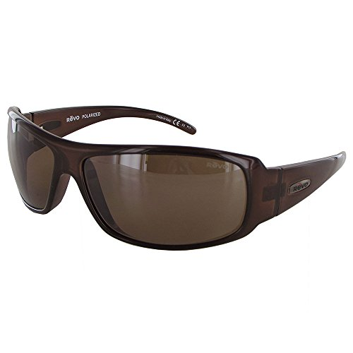 Revo Sunglasses Revo Re 5010x Gunner Polarized Wraparound Sunglasses Wrap, Crystal Brown Terra, 66 mm