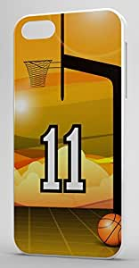 Basketball Sports Fan Player Number 11 White Plastic Decorative iPhone 6 PLUS Case by Maris's Diary