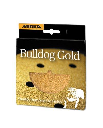 Mirka 23-615 5-Inch 8-hole grip Gold discs 100RP 10 pieces