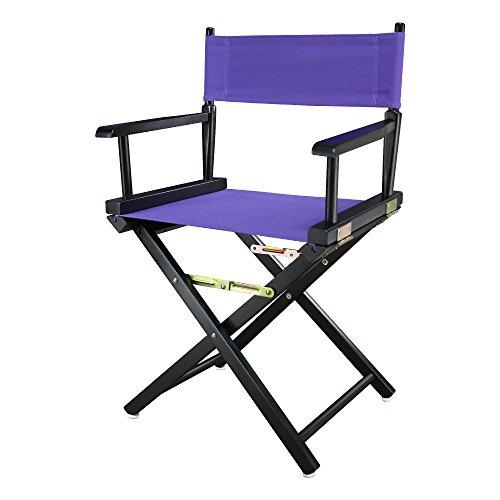 "Casual Home 200-02/021-41 18"" Black Frame-Purple Canvas Director Chair, Classic Height, BlackFrame"