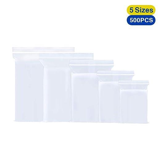 Amazon.com: Bolsas pequeñas de plástico con cierre hermético ...