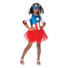 Rubies Costume Marvel Universe Classic Collection Metallic Captain America, Child Small