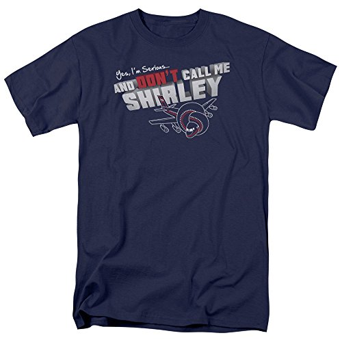 (Airplane! Funny Comedy 1980 Movie Dont Call Me Shirley Adult Mens T-Shirt Tee)