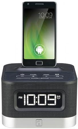 SDI iC50BE - Radiodespertador con base de carga para smartphones ...