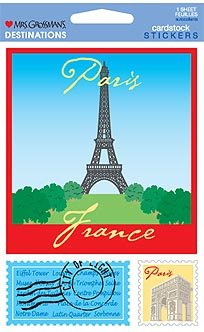 Paris Destinations Cardstock Scrapbook Stickers (31374)