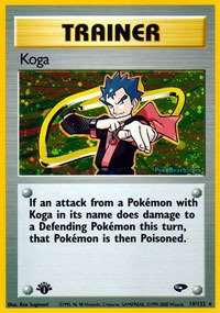 (Pokemon - Koga (19) - Gym Challenge - Holo)