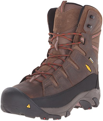 KEEN Utility Men's Minot 600G Work Boot, Cascade Brown/Bossa Nova, 9.5 W (600g Boot)