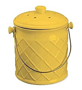 Amazon Com 1 Gallon Lattice Ceramic Compost Crock In