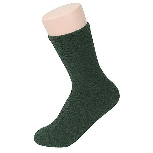 - Women's Soft Warm Plain Fuzzy Socks (Green, 1P)